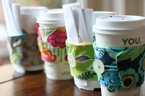 Cute gift for the coffee lovers: Teacher Gifts, Coffee Sleeve, Coffee Gifts, Gifts Cards, Gifts Ideas, Coffee Cups Cozy, Coffee Cards, Cozy Tutorials, Coffee Cozy