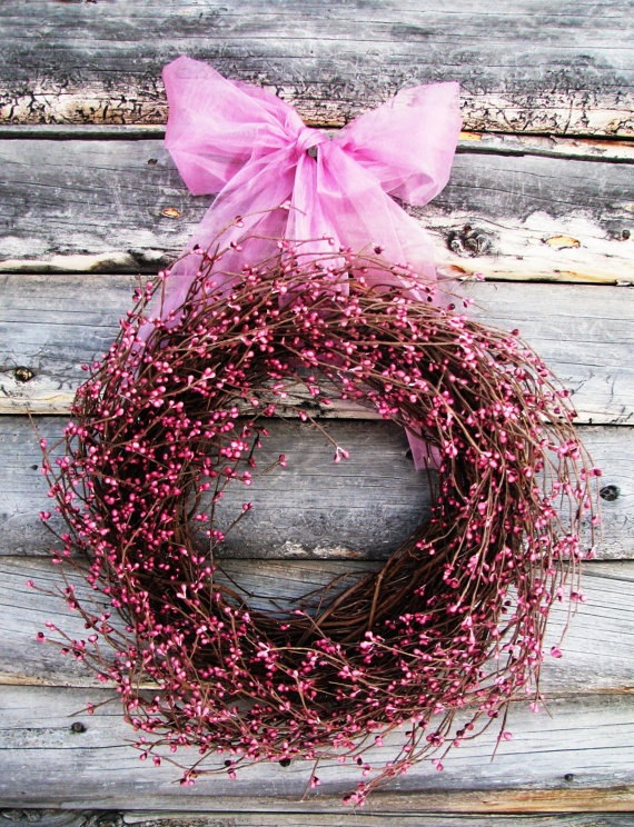 Easter Wreath I Think It Would Be Pretty To Add A Metal Cross In The