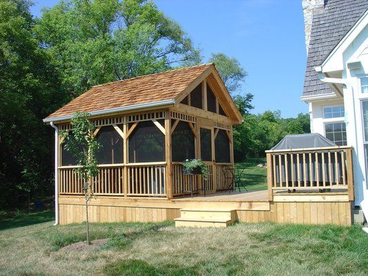 Screened in Decks | Deck and Detached Screened Room/ Gazebo | Yelp
