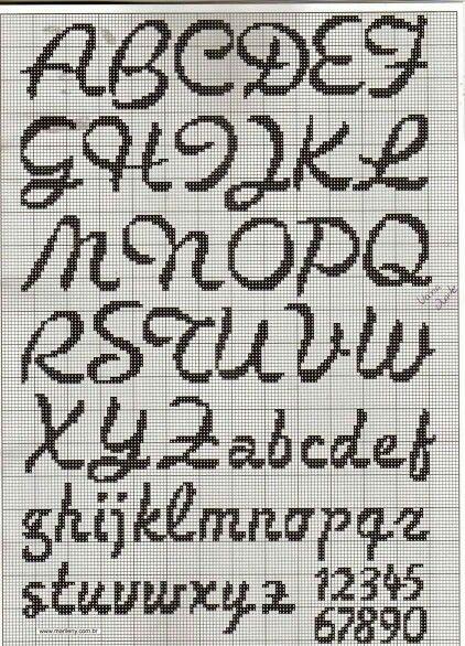 cross stitch font [22/10p]