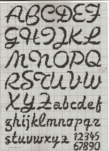 cross stitch font [22/10p] More