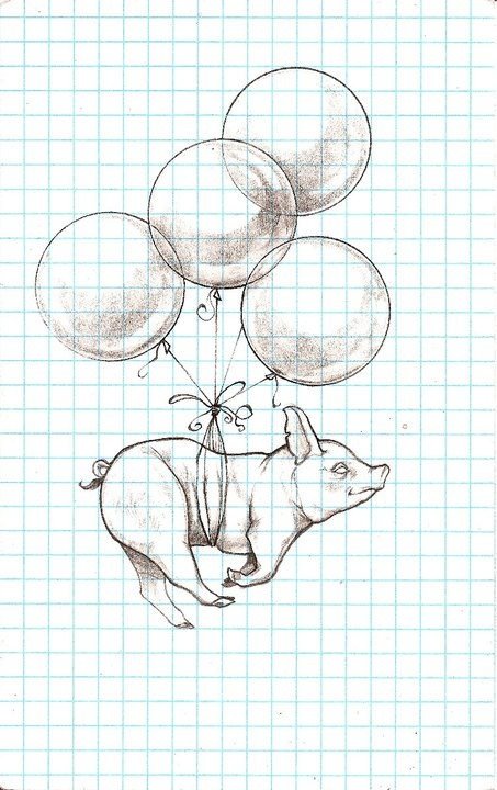 When Pigs Fly - drawing by Ryan Haralson