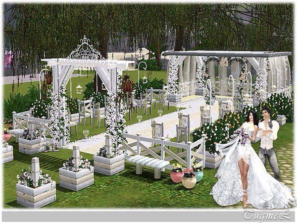 Хороший вариант украшения места церемонии (кроме большой беседки)