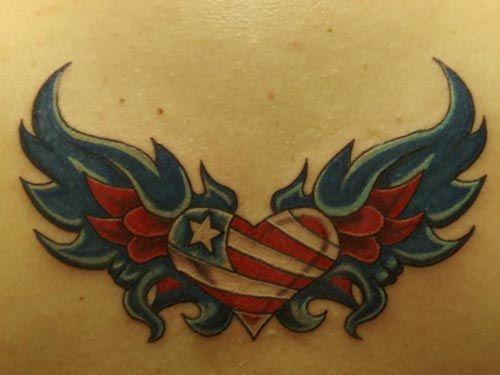 3d-hd-tattoos.com Women love heart with angel wings tattoo ...