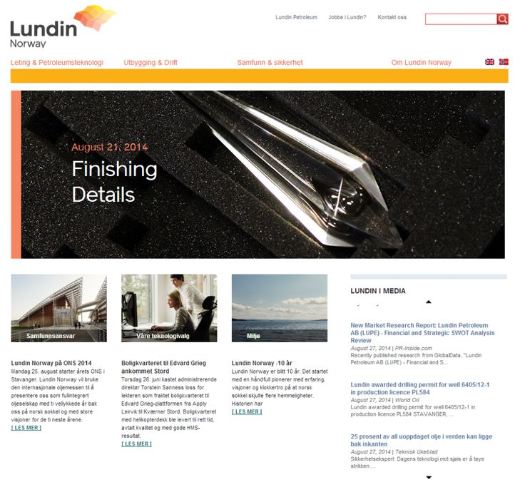 Custom cast crystals with authentic oil samples in i produced for Lundin on their home page.