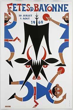Affiche des fêtes de Bayonne en 1969
