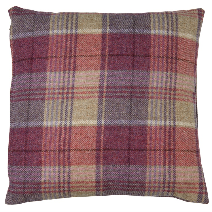 Cranbourne Wool Check Cushion at LAURA ASHLEY