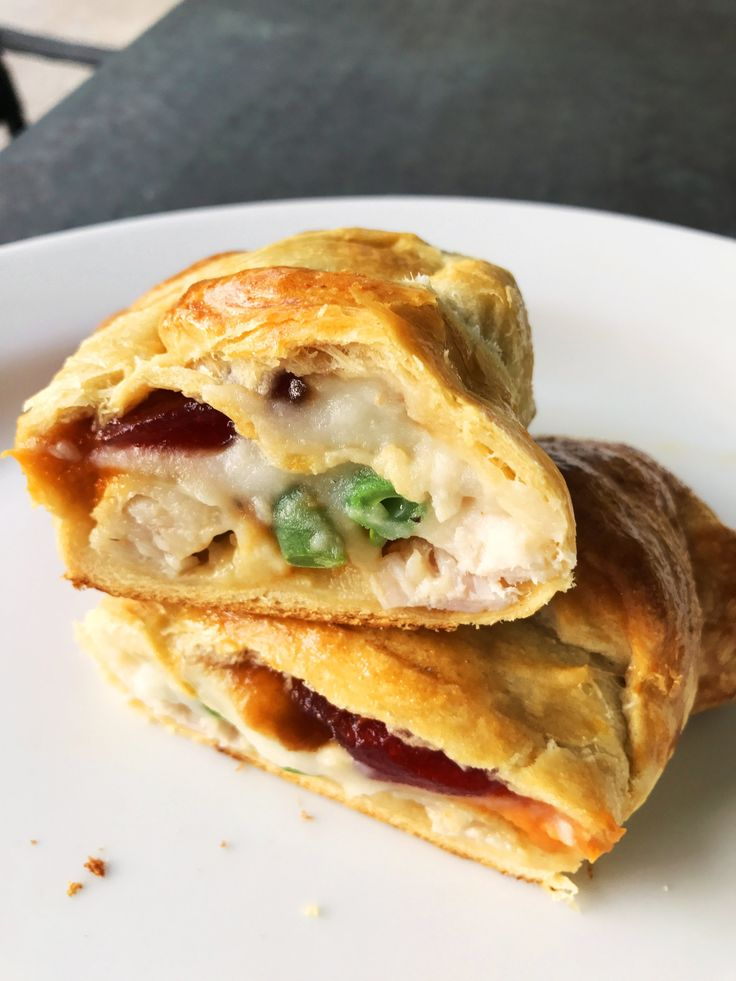 This #Thanksgiving-stuffed #Croissant is the best use of #Leftovers ever!