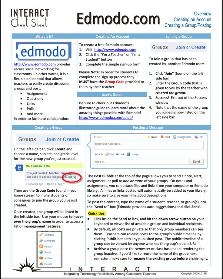 Edmodo Resources for Teachers A Comprehensive Chart ~ Educational Technology and Mobile Learning