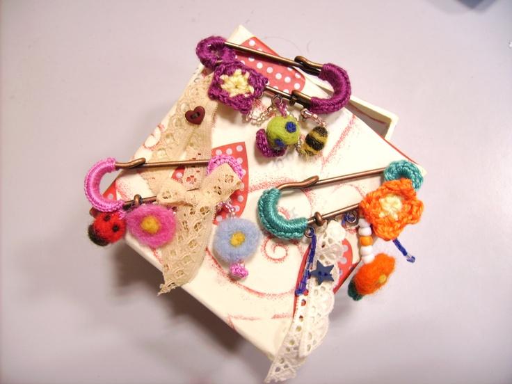 Imperdibles con crochet