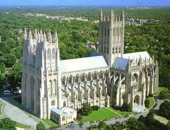 National Cathedral in Washington, DC.  They have a very interesting tour and there are great views of the city from here.