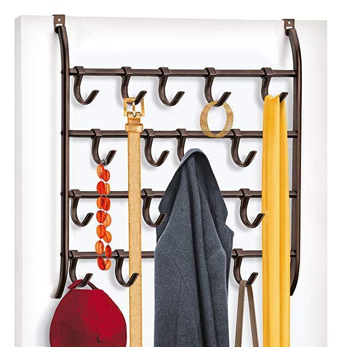 Scarf Belt Lynk Over Door Accessory Holder Hat 9 Hook Jewelry Hanger