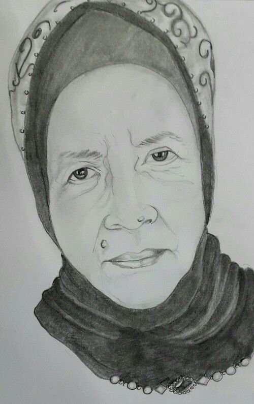 My mom in pencil