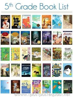 5th Grade Reading List ~ a Visual Reading List for Kids // post includes reading record printable