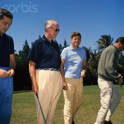 Steve Smith, Ambassador Joe Kennedy, President John Kennedy and Peter Lawford
