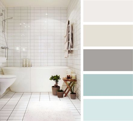 possible bathroom colors - taupe with soft green accents?