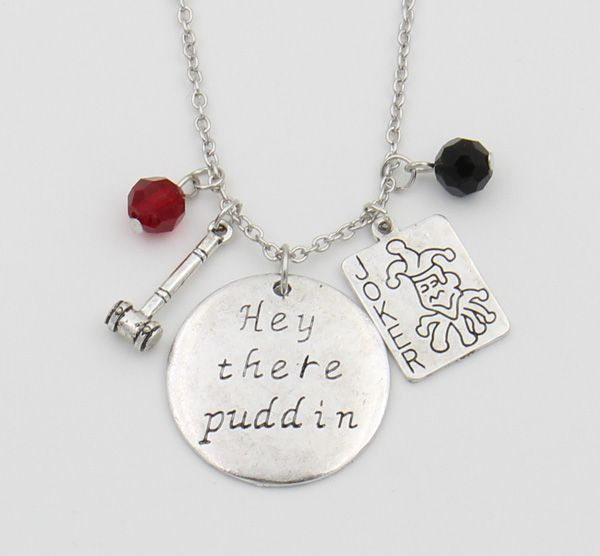 """Hey there Puddin"" Pedant Necklace DC World Shop http://dcworldshop.com/hey-there-puddin-pedant-necklace/    #suicidesquad #superhero #dcuniverse #bataman #superman"