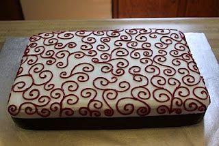 Eine andere Option, wenn wir uns für Blechkuchen statt Cupcakes entscheiden …   – Blechkuchen
