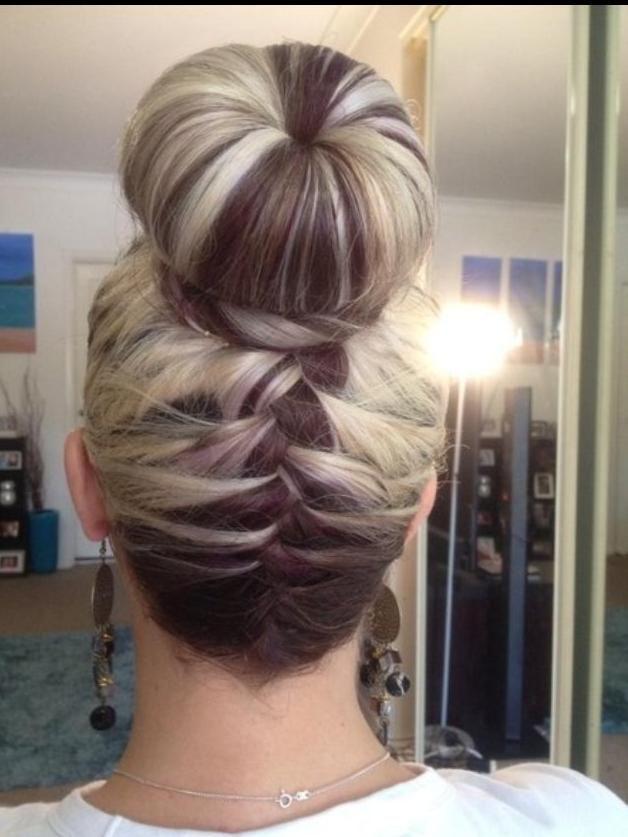 Chocolate  Vanilla French Braid Bun - Hairstyles and Beauty Tips