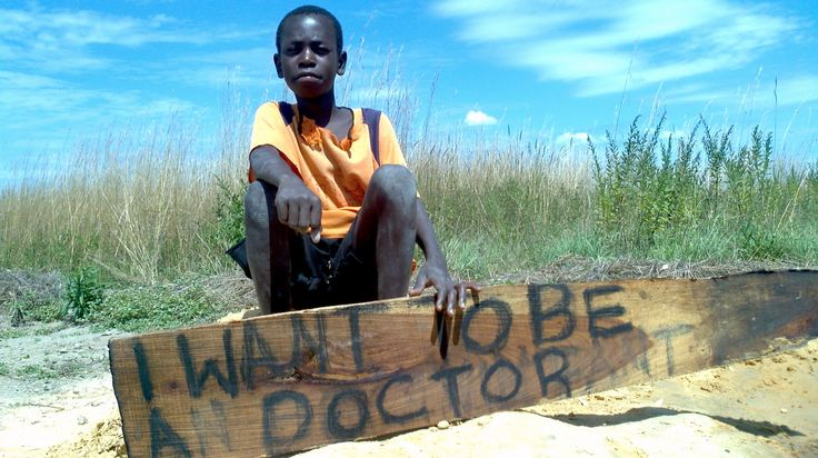 Zambian child shares his hopes for his future.