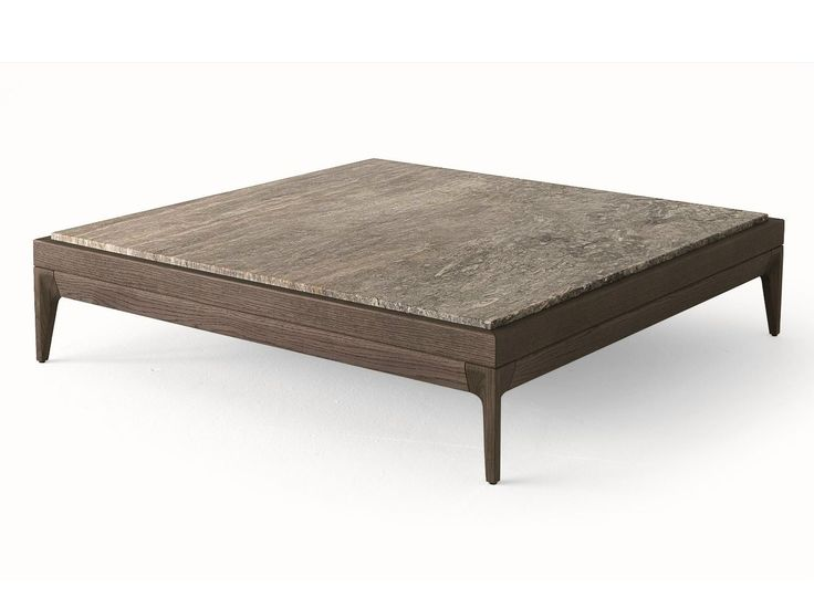 Table basse carr e en bois massif de salon antibes by - Table carree 8 personnes ...
