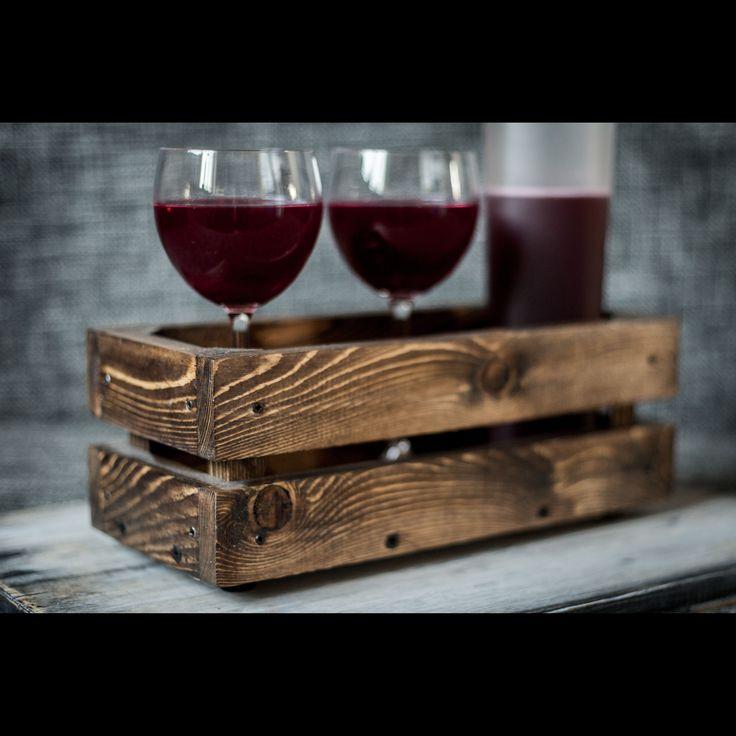 Ящик для вина(для бутылок).Сделан из сосны в состаренном стиле.Декор.Деревянный ящик. Wooden crate. Wine crate.
