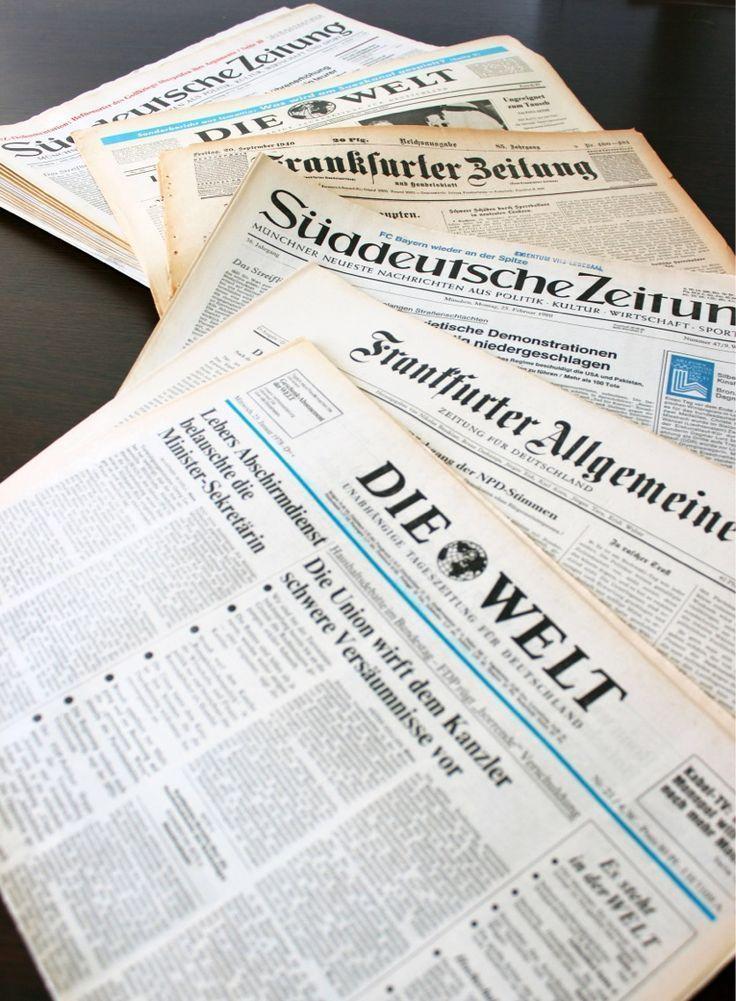 Echte Zeitung Vom Geburtstag Persönlich Und Originell Im
