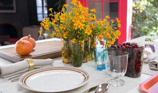 Aalto Vase Centerpiece Thanksgiving Table Setting 2014