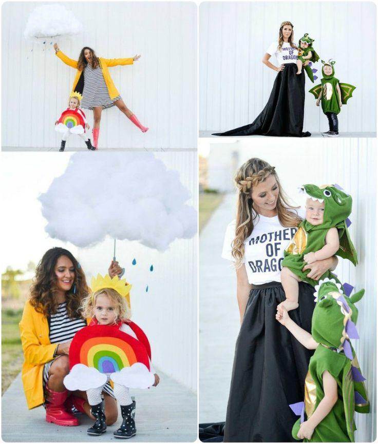 disfraz-madre-hijo-coordinados-lluvia-arco iris-juego de tronos-dragón.jpg