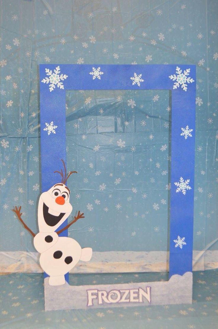 Frozen- Olaf photo booth!