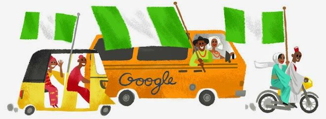 #Nigeria Independence Day 2014 - Today Doodle Google