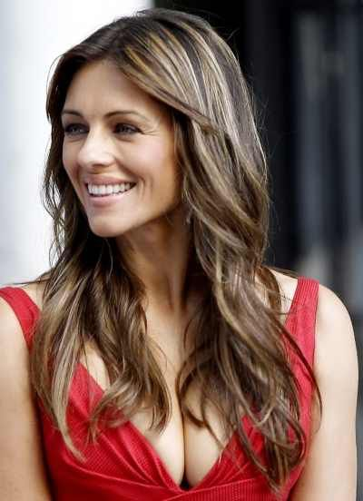 Elizabeth Hurley Balayage Hair In 2019 Hot Hair Styles
