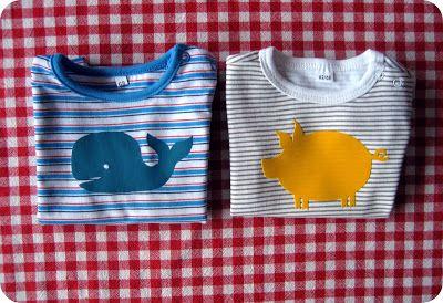 T-shirt & Body-  Zeeman met Wallie/Varkske van flexfolie. Tiene: januari 2013