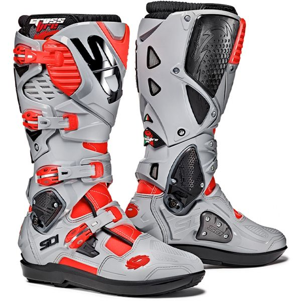 fde9adf692c06 Sidi Crossfire 3 SRS Motocross Boots - Red Fluo Ash