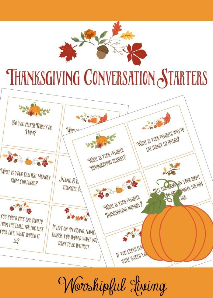 The Importance of Family Dinner Conversation {With Thanksgiving Dinner Cards}