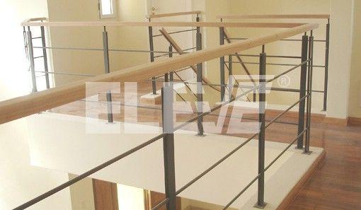 Baranda en hierro con pasamano de madera ideas casa - Barandas de escaleras de madera ...