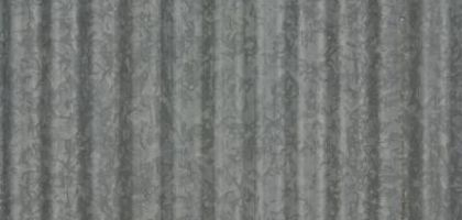 Most corrugated 'barn-tin' panels are actually made of aluminum or steel rather than tin.