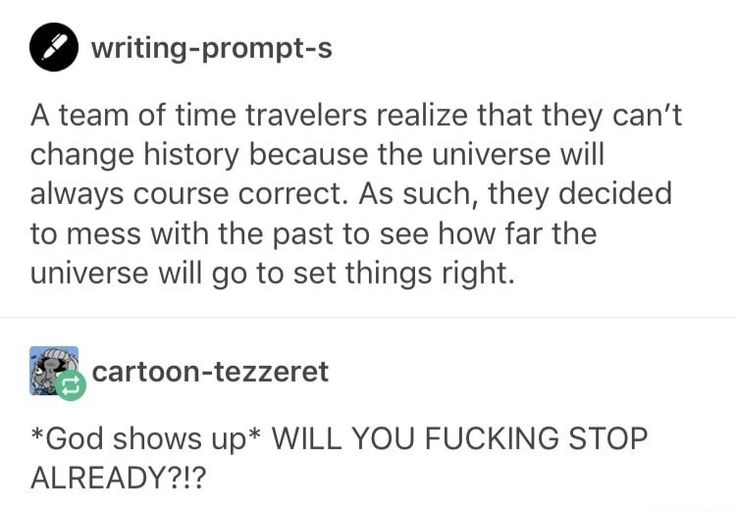 Time travelers messing with things!