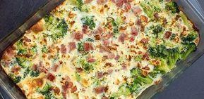 Een gezonde brocoli schotel met rosti eieren en kipfilet.