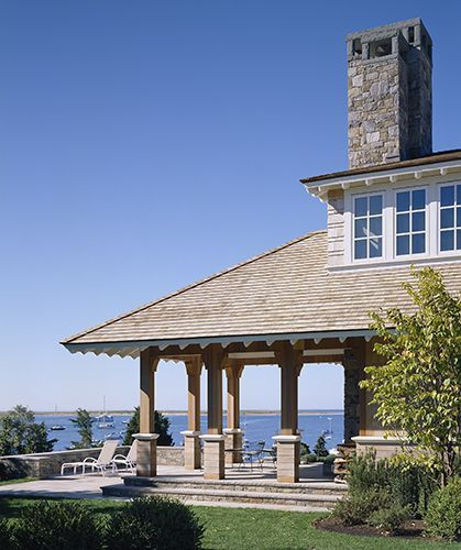 Photos of fine cape cod homes house on champlain 39 s bluff for Cape cod architects