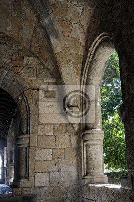 Fotobehang Steen venster