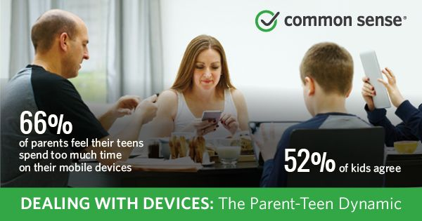 Dealing with Devices: The Parent-Teen Dynamic | Common Sense Media