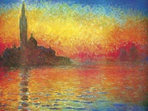 Claude Monet Dusk in Venice Huge Art Print Poster