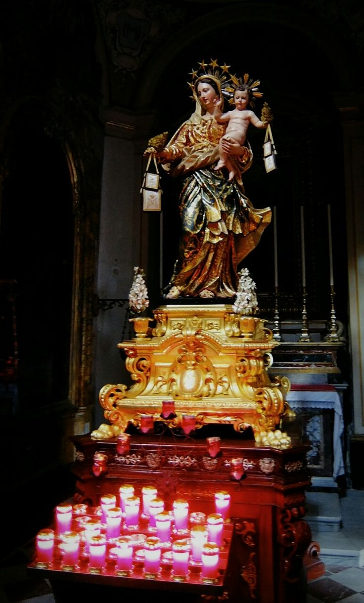 allaboutmary:  The statue of Our Lady of Mount Carmel in the Carmelite church in Mdina, Malta.