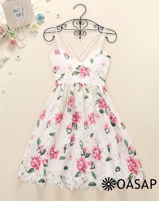 Goddess Floral Backless Pleated Slip Dress m.OASAP.com