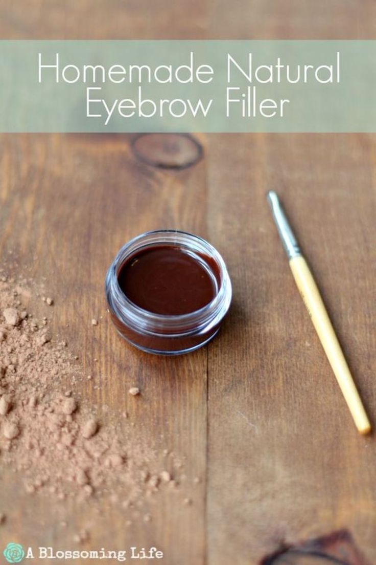 Non-toxic, all-natural, incredibly simple eyebrow filler : 1 1/2 tsp almond oil or castor oil, 2 1/2 tsp cocoa powder, 1 tsp cornstarch, activated charcoal (optional) .. eyes, eyebrow makeup / pinterest: ☞ katepisors