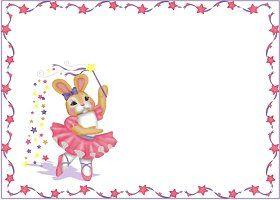 Free Ballerina Bunny Invitation