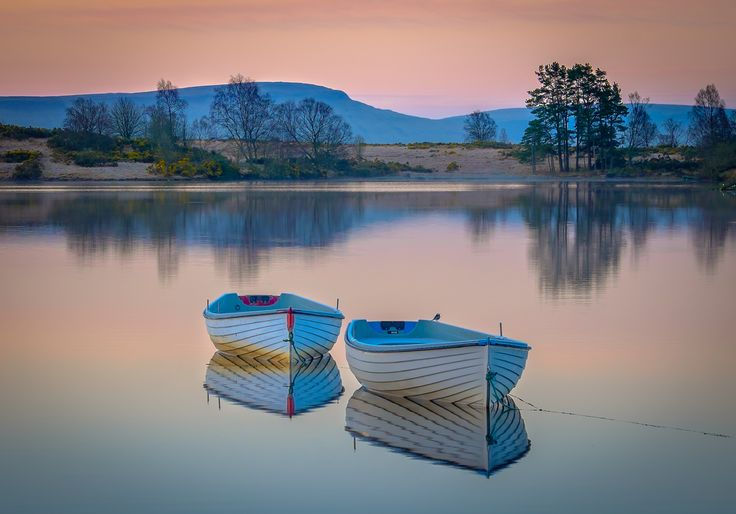 Early Morning Colours - Another shot from an early morning visit to Loch Rusky. I like the muted dawn colours in this image.