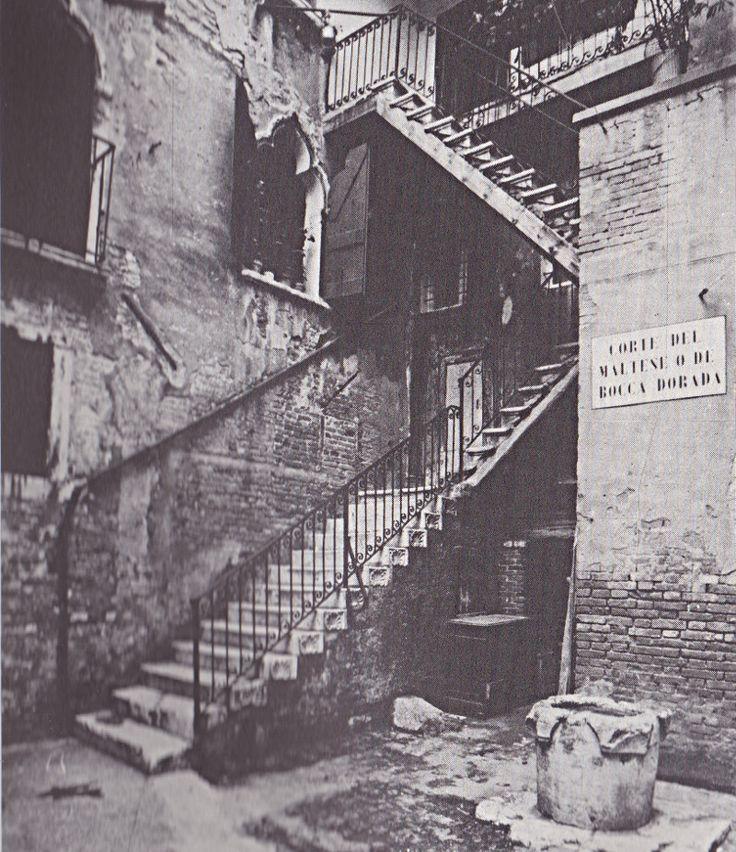 Venise, la cours du Maltais ou de Bouche Dorée