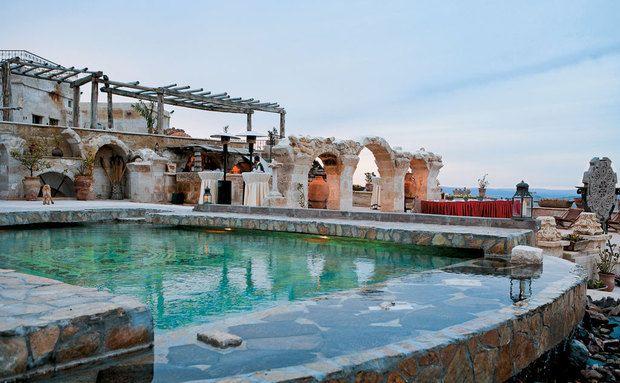 Banho turco: a piscina do Museum Hotel, em Uçhisar, na Capadócia